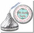 Mistletoe Wreath - Hershey Kiss Christmas Sticker Labels thumbnail
