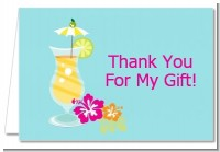 Margarita Drink - Bachelorette Party Thank You Cards