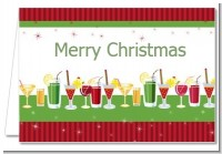 Holiday Cocktails - Christmas Thank You Cards