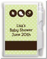 Modern Baby Green Polka Dots - Baby Shower Personalized Notebook Favor