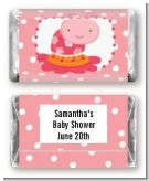 Modern Ladybug Pink - Personalized Birthday Party Mini Candy Bar Wrappers
