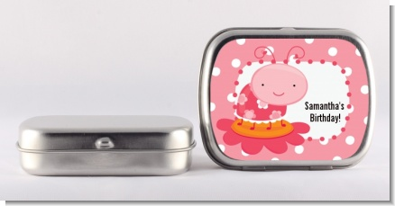Modern Ladybug Pink - Personalized Birthday Party Mint Tins