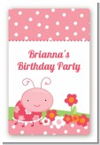 Modern Ladybug Pink - Custom Large Rectangle Birthday Party Sticker/Labels