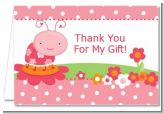 Modern Ladybug Pink - Birthday Party Thank You Cards