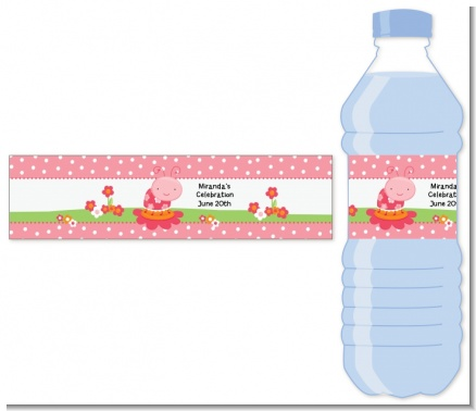 Modern Ladybug Pink - Personalized Birthday Party Water Bottle Labels