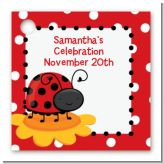 Modern Ladybug Red - Personalized Baby Shower Card Stock Favor Tags