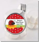 Modern Ladybug Red - Personalized Baby Shower Candy Jar