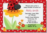 Modern Ladybug Red - Baby Shower Invitations