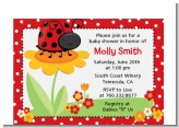 Modern Ladybug Red - Baby Shower Petite Invitations