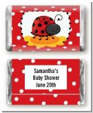 Modern Ladybug Red - Personalized Baby Shower Mini Candy Bar Wrappers