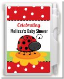 Modern Ladybug Red - Baby Shower Personalized Notebook Favor