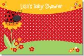 Modern Ladybug Red - Personalized Baby Shower Placemats