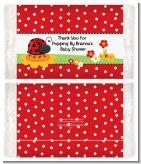 Modern Ladybug Red - Personalized Popcorn Wrapper Baby Shower Favors