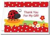 Modern Ladybug Red - Baby Shower Thank You Cards