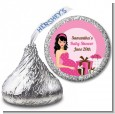 Modern Mommy Crib It's A Girl - Hershey Kiss Baby Shower Sticker Labels thumbnail
