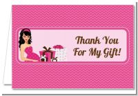 Modern Mommy Crib It's A Girl - Baby Shower Thank You Cards