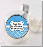 Modern Thatch Blue - Personalized Candy Jar