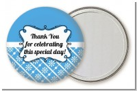 Modern Thatch Blue - Personalized Pocket Mirror Favors