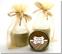 Modern Thatch Brown - Gold Tin Candle Favors