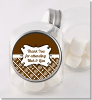 Modern Thatch Brown - Personalized Candy Jar