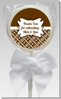 Modern Thatch Brown - Personalized Lollipop Favors