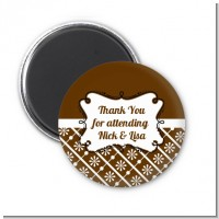 Modern Thatch Brown - Personalized Magnet Favors