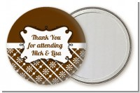 Modern Thatch Brown - Personalized Pocket Mirror Favors