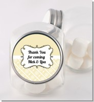 Modern Thatch Cream - Personalized Candy Jar