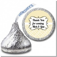 Modern Thatch Cream - Hershey Kiss Sticker Labels