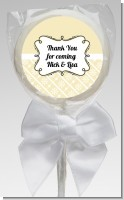Modern Thatch Cream - Personalized Lollipop Favors