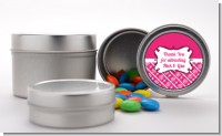 Modern Thatch Fuschia - Custom Favor Tins