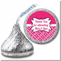 Modern Thatch Fuschia - Hershey Kiss Sticker Labels