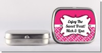 Modern Thatch Fuschia - Personalized Mint Tins