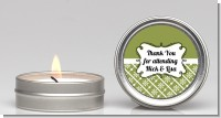 Modern Thatch Green - Candle Favors