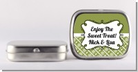 Modern Thatch Green - Personalized Mint Tins