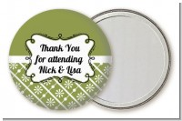 Modern Thatch Green - Personalized Pocket Mirror Favors