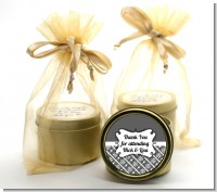 Modern Thatch Grey - Gold Tin Candle Favors