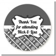 Modern Thatch Grey - Personalized Everyday Party Round Sticker Labels thumbnail