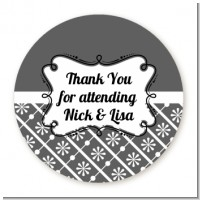 Modern Thatch Grey - Personalized Everyday Party Round Sticker Labels