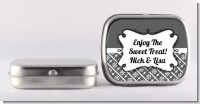 Modern Thatch Grey - Personalized Mint Tins
