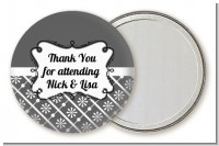 Modern Thatch Grey - Personalized Pocket Mirror Favors