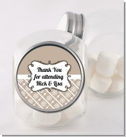 Modern Thatch Latte - Personalized Candy Jar