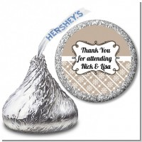 Modern Thatch Latte - Hershey Kiss Sticker Labels