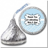 Modern Thatch Light Blue - Hershey Kiss Sticker Labels