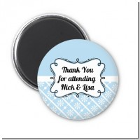 Modern Thatch Light Blue - Personalized Magnet Favors