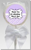 Modern Thatch Lilac - Personalized Lollipop Favors
