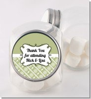 Modern Thatch Olive - Personalized Candy Jar