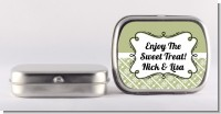 Modern Thatch Olive - Personalized Mint Tins