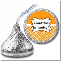 Modern Thatch Orange - Hershey Kiss Sticker Labels