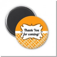 Modern Thatch Orange - Personalized Magnet Favors